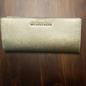 BNWT MICHAEL KORS Flat Slim Bifold Wallet